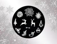 Stamping Schablone  *Feuerwerk, Rentier, Socken -#BP82