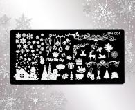 Stamping Schablone  *Sterne, Schneeflocke, Geschenke -#SPH04