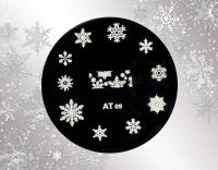 Stamping Schablone *Eiskristalle, Schneeflocken -#XAT09