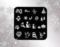 Stamping Schablone *Weihnachten & Halloween* XJ1