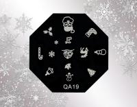 Stamping Schablone *Weihnachtsmann,Sternschnuppe,Rentier* -#X-P13