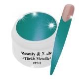 UV Farbgel *Türkis Metallic* - 5ml - #P311
