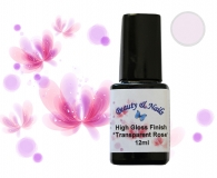 High Gloss Finish Gel -*Transparent Rose* - 12ml