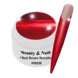 UV Farbgel *Red Brown Metallic* - 5ml - #FG235