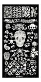 Stamping Schablone  *Skull, Blätter, Pik, Herz, Karo, Blätter -#XY-S15