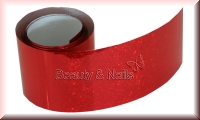Nailart Folie Red Glitter #14 - 1,5m