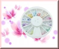 Rondell - 600 runden Straßsteinchen *versch.Farben*(1,4 mm)