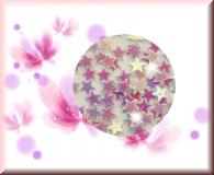 Flitter- Sternchen Weiß Irisierend