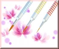 NailART Pinsel *Silver Line* - 3 Varianten