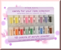 Acrylpowder Candy Kit - 18 Farben/Starnail/Cinapro