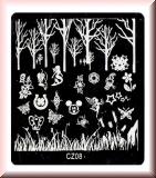 Stamping Schablone *Nixe,Elfe,Gras,Baum -#CZ08