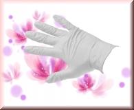 Nitril Handschuhe White Pearl -Gr.M -100 Stück