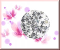 Flitter- Sternchen Silber