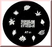 Stamping Schablone  *Verschiedene Blätter -#AT01