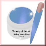 UV Farbgel *Shiny Neon Blau*- 5ml - #412