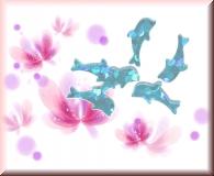 Glänzende Delfine - Türkis
