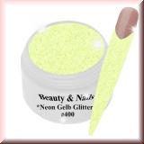UV Farbgel *Neon Gelb Glitter*-5ml -#400