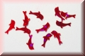 Glänzende Delfine - Rot