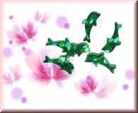 Glänzende Delfine - Grün