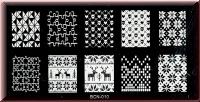 Stamping Schablone  *Puzzle klein/groß,Totenkopf,Weihnachten -#BCN-010