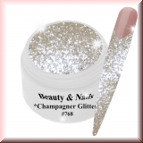UV Farbgel *Glitter Champagner* - 5ml - #768
