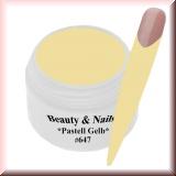 UV Farbgel *Pastell  Gelb* - 5ml - #647