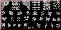 Stamping Schablone SA-16*Snoppy,Kussmund,Sterne,Rose,Herz