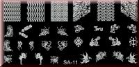 Stamping Schablone SA-11*BieneMaja,Tigger,Schmetterling,Elfe,Bonbon