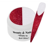 Thermo Gel- Red to White Glitter - 5ml #T08