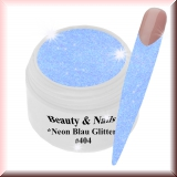 UV Farbgel *Neon Blau Glitter*-5ml - #404