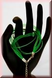 Halsband Organza-Wachs-Band Grün