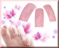 100 Stk.*Glamour Style Tips*-*Clear/Pink* mit Tipbox