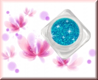 GlamourGlitter - Neonblau/Silber #GD9
