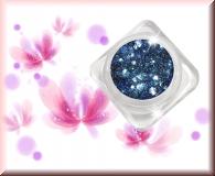 GlamourGlitter - Azurblau/Silver #ST38