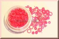 Ringe und Dots - Neonpink - ST21