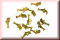 Glänzende Delfine - Gold