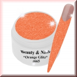UV Farbgel *Orange Glitz*- 5ml -#665