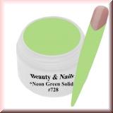 UV Farbgel *Neon Grün Solid*- 5ml -#728