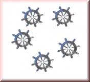 20 Stück silbernes Steuerrad, Inlay - #I6