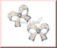 2 Stück Straßschleifen mit Perlen - #26