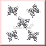 10 Stück silberne Schmetterlinge, Inlay -#I2