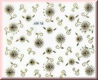 Sticker mit Blüten - #AW18