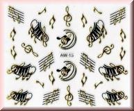 Sticker mit Noten & Notenschlüssel - #AW15