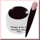 Black Magic Glitter Gel  5ml - Red/Black #BM1