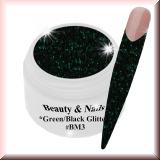 Black Magic Glitter Gel  5ml - Green/Black #BM3