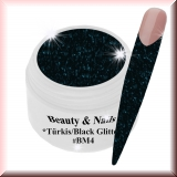 Black Magic Glitter Gel  5ml - Tourquise/Black #BM4