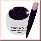 Black Magic Glitter Gel  5ml - Violett/Black #BM7