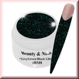 Black Magic Glitter Gel  5ml - Grey Green/Black #BM8