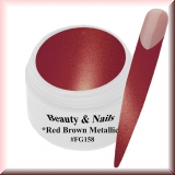 UV Farbgel *Red Brown Metallic*- 5ml -#FG158