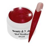 UV Farbgel *Red Metallica*- 5ml -#FG258